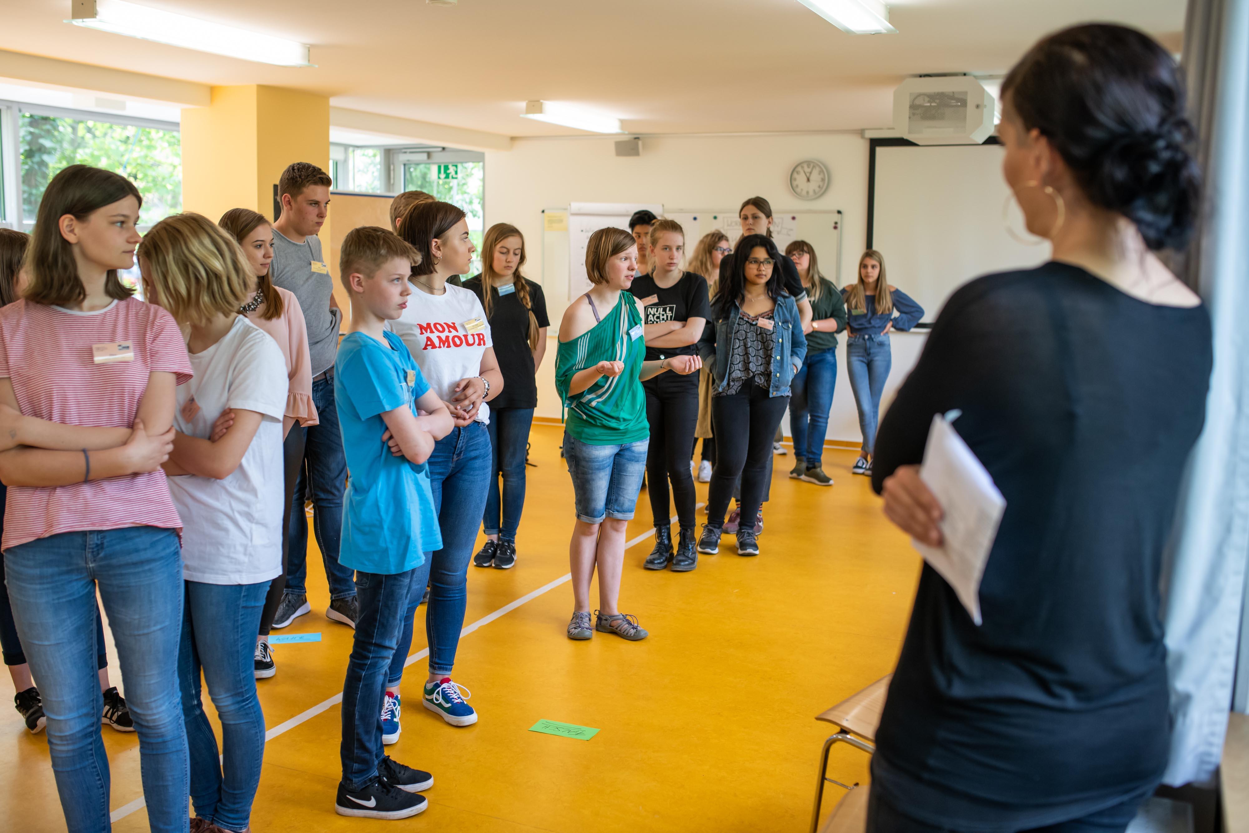 """24.04.2018 Weimar: 4. Landestreffen der """"Schule ohne Rassismus - Schule mit Courage"""" der Stiftung """"Europäische Jugendbildungs- und Jugendbegegnungstätte Weimar"""" (EJBW). Foto: Thomas Müller"""